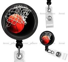 Basketball Lover's Clip On Id Badge Reel Identification Holder Retractable ID09
