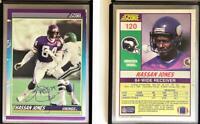 Hassan Jones Signed 1990 Score #120 Card Minnesota Vikings Auto Autograph