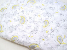 Pottery Barn Kids Multi Colors Gray Yellow Lara Paisley Baby Toddler Crib Quilt