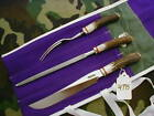 """RANDALL KNIFE KNIVES #6-9"""", 3 PIECE CARVING SET,SS,NSRH,ALL-R.S,STAG,NSP  #4795"""