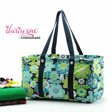NEW Thirty One LARGE UTILITY tote Bag beach laundry 31 gift in best buds aa