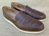 Cole Haan Grand OS Men's Brown Leather Penny Loafers, Size 12 M