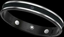 Montblanc Men's  Black Debossed  Bracelet New with Box Free Shipping USA Seller