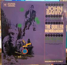 The Quiller Memorandum John Barry 1966 LP Soundtrack CBS