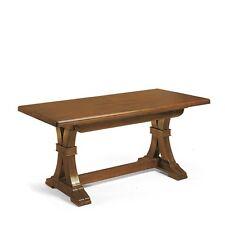 Tavolo Fratino 180 x 85 cm Allungabile in legno arte povera tinto noce