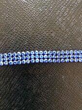 Blue crystal hair band