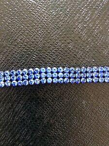 Blue Coloured Crystal Set hair band