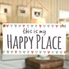 this is my Happy Place - Wall Or Door Sign / Plaque For Snug Or Bedside Wall