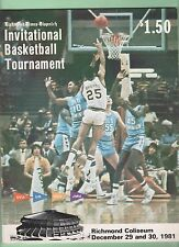 Richmond Times-Dispatch Basketball Tournament 1981 Program UVA Sampson