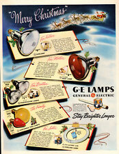 1946 vintage Christmas AD GE Lamps , Christmas lights , sun lamps more! 112018