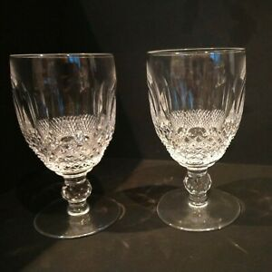 """2x Waterford Crystal Colleen Stemmed Glasses 4.75"""" 12.25cm Tall holds 100ml"""
