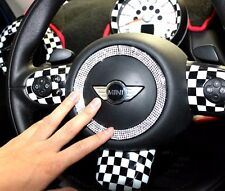 Car Steering Wheel Bling Diamond Ring Sticker Decal for Mini Cooper F55 F56 F54