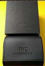 IWC vedere Storage/scatola da viaggio, nero in finta pelle. scatole regalo. mai usato