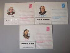 RUSSIE 3 pré-timbrée enveloppes 1980 Inutilisé