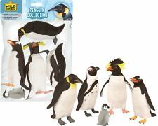 Polybag Penguins 5 Pack Figures Kids Toy Pretend Bird Project Animal Collection