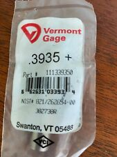 Vermont Gage 3935 Pin Gage Qty1 Brand New