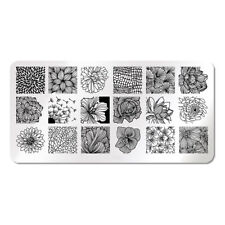 XL Stamping Schablone Stempel Platte Blumen Flower J001