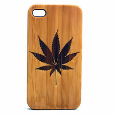 Marijuana Case for iPhone 5 5S SE Bamboo Wood Cover Cannabis Weed Leaf Legalize