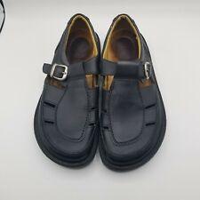 Birkenstock Footprints Black Leather Shoes Sz. 38/245 7-7 1/2 Woman's Sandals S1