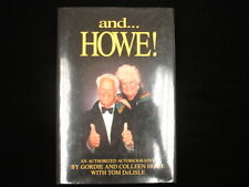 "Gordie Howe Autographed Hardcover ""and... Howe!"" book"