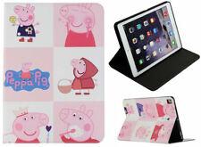 For iPad Pro 9.7 - iPad 9.7 - iPad Air 1-2 Peppa Pig Cartoon Smart Case Cover +