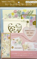 Japan 2017 MNH Heart Hearts 6v M/S Flowers Stamps + Stationery Gift Pack