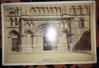 BORDEAUX :  Photographie Du Portail De L'église Ste-Croix , Vers 1880.