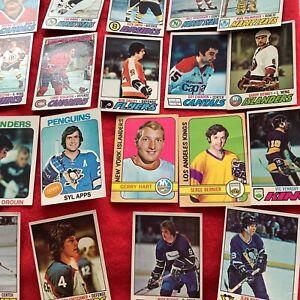 LOT of 1973 plus 1970s HOF  topps hockey cards