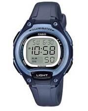 Casio LW203-2AV, Women's Digital Chronograph Watch, Blue Resin Band, Alarm
