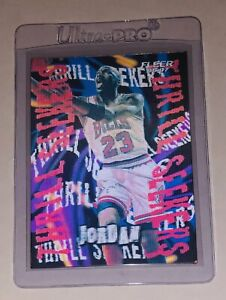1996-97 Michael Jordan 3D Lenticular THRILL SEEKERS CUSTOM #29/45 !