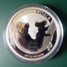 2011 Australian Koala 1 oz 999 Silver coin in plastic air-tite
