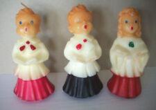 1 Choir girl 2 choir boys Gurley Christmas candles
