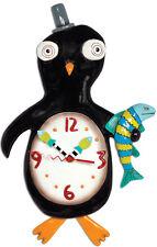 ALLEN DESIGNS Slappy Feet Clock NEU/OVP Pinguin Wanduhr Uhr mit Pendel f. Kinder