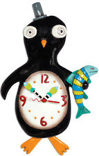 Allen Design Slappy pieds Horloge NEUF / OVP Pingouin murale avec pendule F.