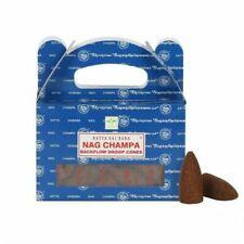 SATYA Backflow Dhoop Cones - Nag Champa- 24 Cone Box BUY 2 GET 1 FREE