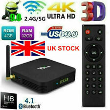 Tx6 Quad 4 Core 4gb+32gb Android 9.0 TV Box Dual 5 GHz WIFI HD Media Player UK