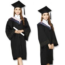BLACK FELT MORTAR BOARD GRADUATION HAT SCHOOL COLLEGE ACADEMIC FANCY DRESS CAP