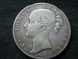 1845 SILVER CROWN