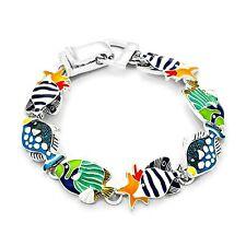 Fish Bracelet Multi Colour Enamel Womens Silver Fashion Jewellery Gift Boxed