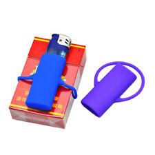 2X Multicolor New Silicone Lighter Leash Safe Stash Clip Keychain Lighter