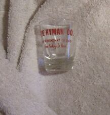 The Hyman Company liquor Store shot glass Minneapolis 254 w. Broadway Free Parki