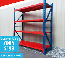 Steel Racking Shelving Warehouse Garage Workshop 2.0m x 2.0m x 0.6m 800kgs