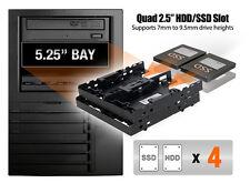 "New ICY Dock FLEX-FIT Quattro MB344SP 4x 2.5"" HDD SSD Bracket for 5.25"" Bay"
