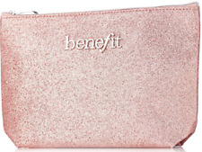 Fab New Benefit Rose gold make up bag and matching folding heart mirror