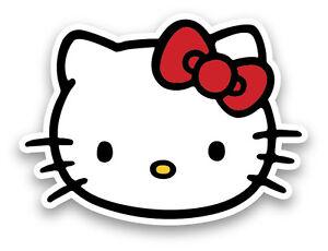"Hello Kitty cartoon sticker decal 2"" set of 2"