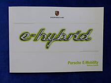 Porsche e-hybrid - Panamera Cayenne 918 Spyder - Prospekt Brochure 04.2013