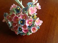 Vintage Millinery Flowers Forget Me Not for Doll Pink Blue Mix or Blue Kawaii
