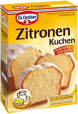 Dr. Oetker Lemon Cake Baking Mix Gugelhupf Backmischung New from german