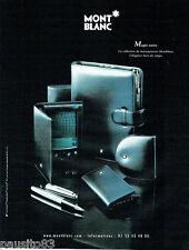 PUBLICITE ADVERTISING 046  2000  Mont Blanc  Magie noire stylo maroquinerie
