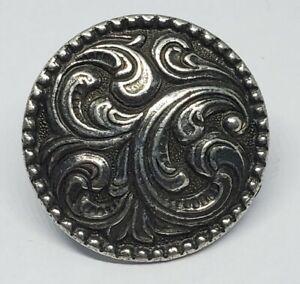 Tinn-Per Norway Pewter Scandinavian Swirl Lapel Pin